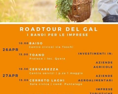 Roadtour - Incontri su presentazione bandi organizzati dal GAL Antico Frignano e Appennino Reggiano